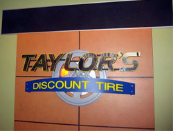 Taylors Discount Tire Sign
